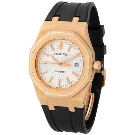 Audemars Piguet. Very Elegant and Tasteful Royal Oak Wristwatch in Pink Gold, Reference 15300OR