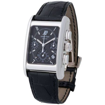 Audemars Piguet. Very Rare and Sophisticated Edward Piguet Automatic Chronograph in White Gold,