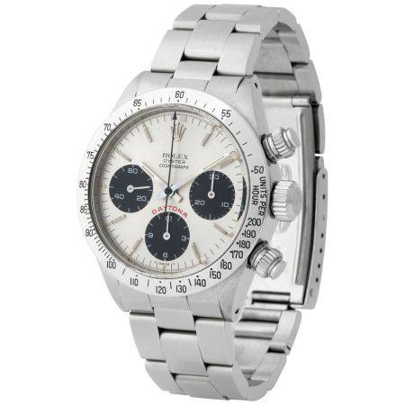 Rolex. Highly Attractive and Very Rare Daytona Chronograph Wristwatch in Steel, Reference 6265,