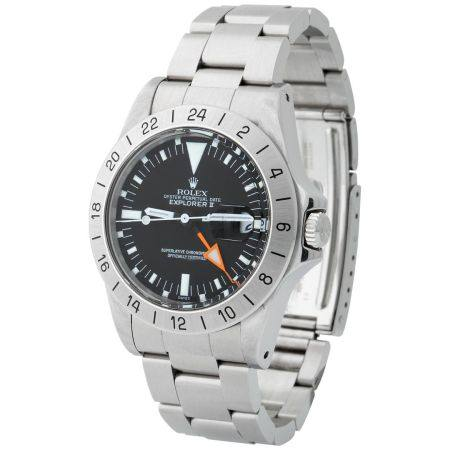 Rolex. Valuable and Fine Explorer II Automatic Dual Time Wristwatch in Steel, Reference 1655, W
