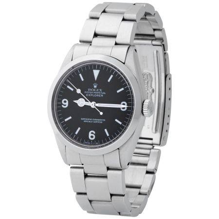 Rolex. Refined and Sporty Explorer Automatic Wristwatch in Steel, Reference 1016, with Black Di