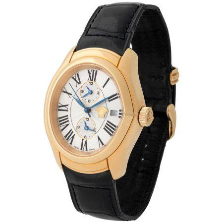 Gianni Versace. Limited Editions Master Banker Automatic Wristwatch in Pink Gold, Reference 419
