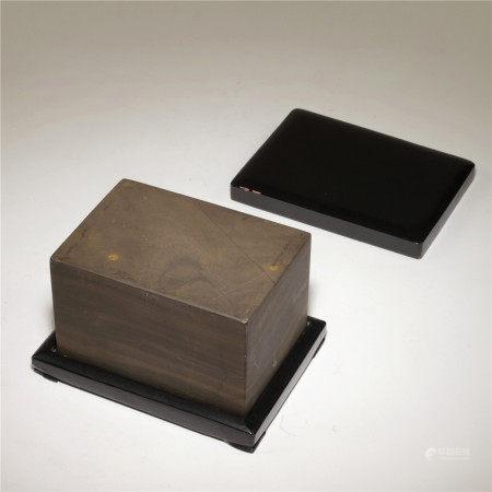 清 端石硯板