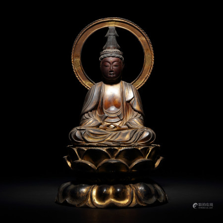 十七~十八世紀 木雕漆金菩薩像