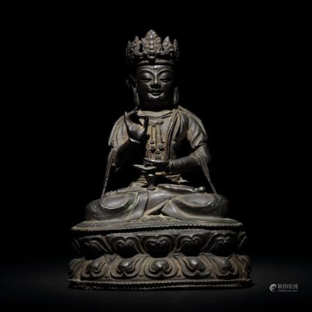 明 銅菩薩座像