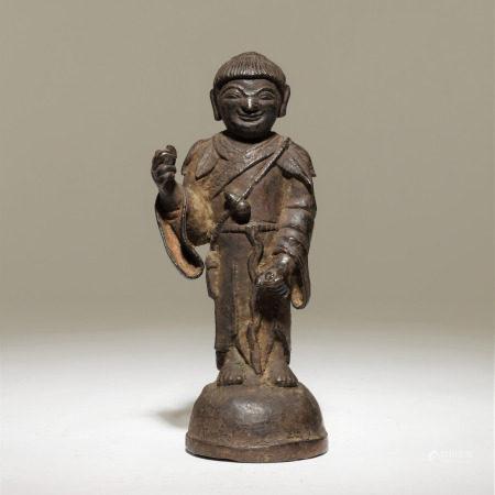 清 銅仙人像
