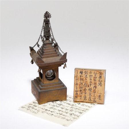 十六—十七世紀 銅鎏金舍利塔