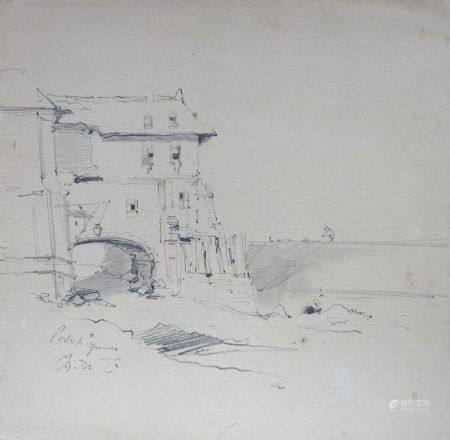 Charles Émile Vacher DE TOURNEMINE (1812-1872) Lot d'environ quarante sept dessins à la mine de