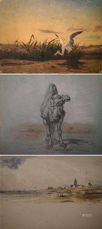 Charles Émile Vacher DE TOURNEMINE (1812-1872) Lot d'environ soixante dix neuf dessins sur l'Eg