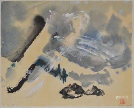 CHEN Dehong (1936) Winter. Encre de Chine et gouache, signé et portant le cachet rouge de l'art