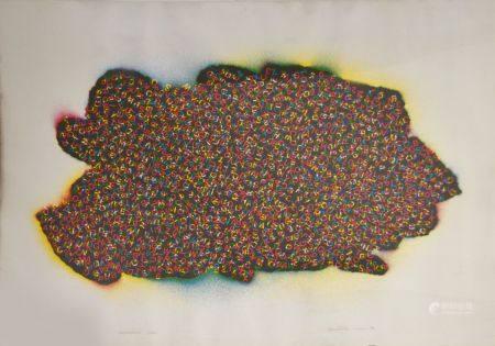 Emmett WILLIAMS (1925-2007) Wortschatzinsel, (île de mots). huit autoportraits. Lithographie en
