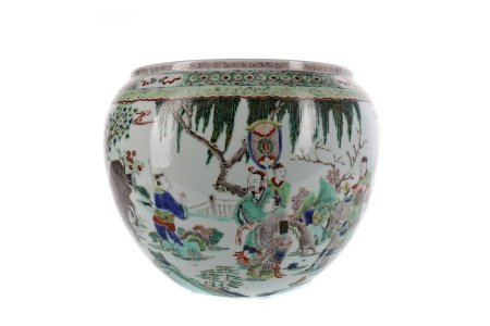 A CHINESE FAMILLE VERTE PLANTER