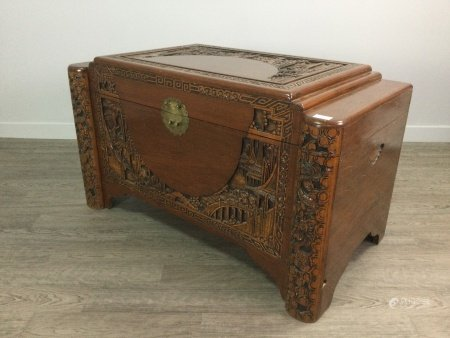 A CHINESE CAMPHORWOOD BLANKET CHEST