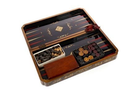 AN EARLY 20TH CENTURY JAPANNED GAMES BOARD
