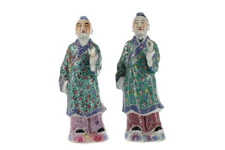 A LOT OF TWO EARLY 20TH CENTURY CHINESE POLYCHROME FIGURES