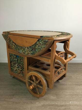 AN EARLY 20TH CENTURY DRINKS TROLLEY