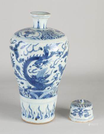 Original Chinese Mei Ping vase with lid