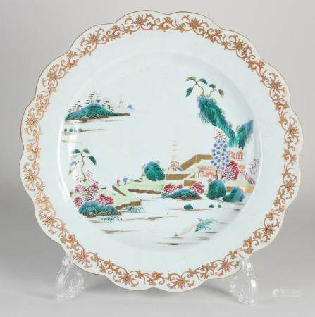Antique Chinese dish Ø 31.8 cm.