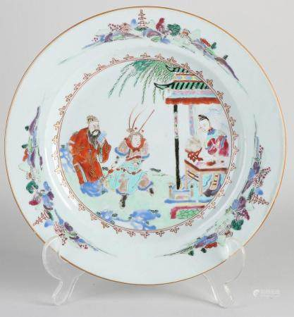 Chinese Family Rose plate Ø 23 cm.