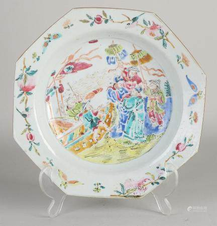 Chinese Family Rose plate 21.6 x 21.8 cm.