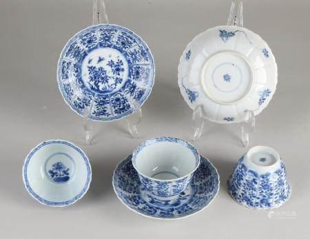 3 Chinese Kang Xi cups + saucers