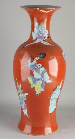 18th century Chinese vase, H 59 cm.