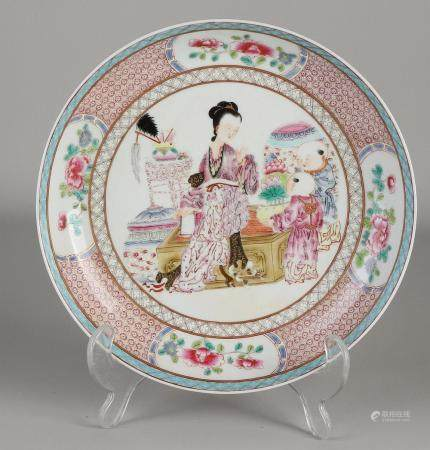 Chinese Family Rose plate Ø 21 cm.
