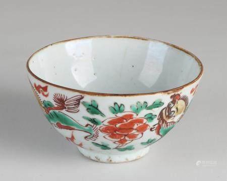 Chinese Wucai bowl Ø 11.5 cm.