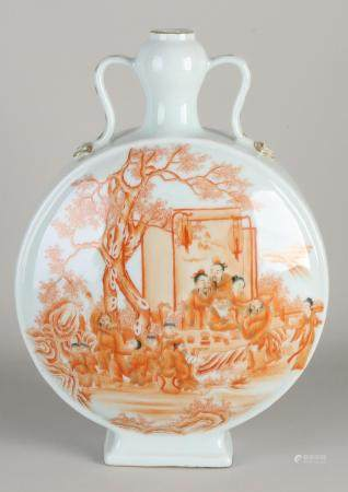 Chinese moon vase, H 33 cm.