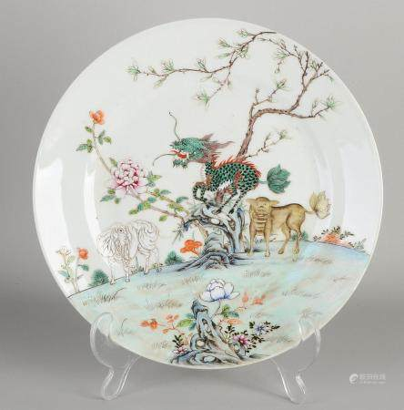 Chinese plate Ø 23 cm.