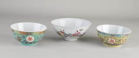 3 Chinese bowls