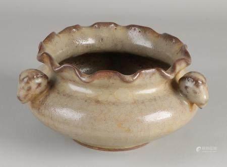 Chinese celadon bowl Ø 17 cm.
