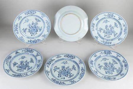 Six Chinese plates Ø 26 cm.