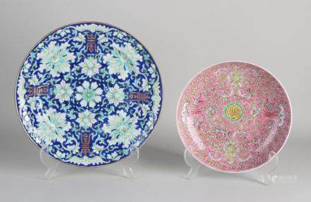 Two Chinese plates