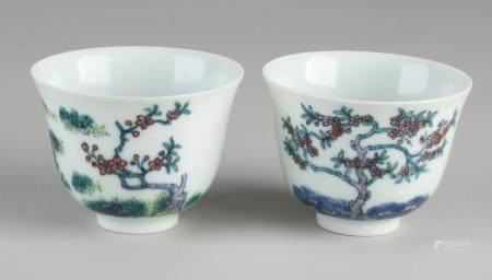 2 Chinese cups
