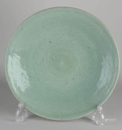 Celadon dish Ø 29 cm.