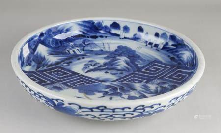 Antique Japanese bowl, Ø 30.7 cm.