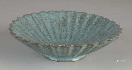 Chinese celadon bowl Ø 18.2 cm.