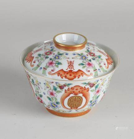 Chinese bowl with lid Ø 10.5 cm.