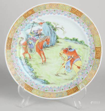 Chinese plate Ø 21.4 cm.