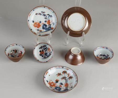 Lot Capuchine cups / saucers (7x)