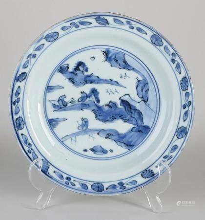17th century Wanli plate Ø 20.7 cm.I.