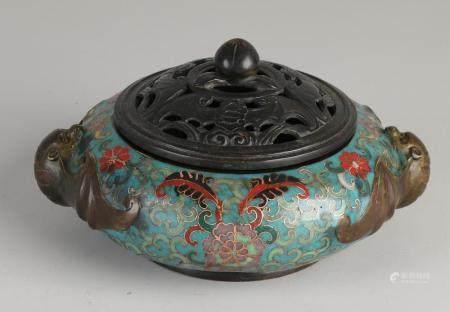 Cloisonne incense burner