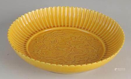 Yellow saucer Ø 22.7 cm.