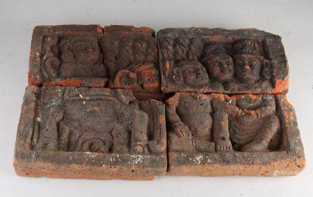 Four-pass Asian relief stones