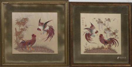 Two parts of Japanese or Chinese handicrafts