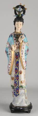 Japanese cloisonné geisha