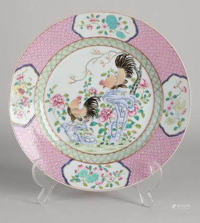 Chinese Family Rose plate Ø 23.2 cm.
