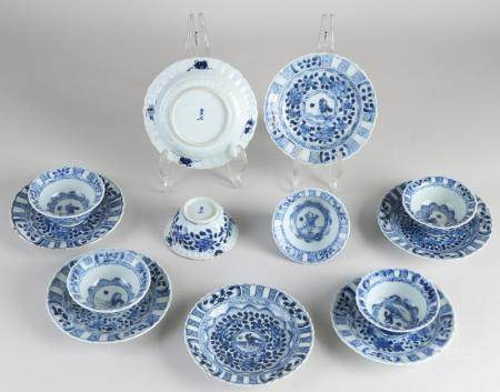 Lot of Chinese porcelain cups and saucers