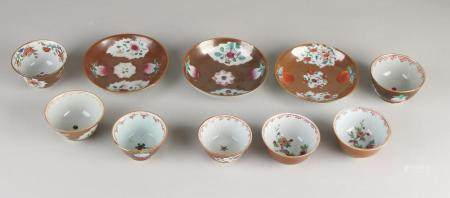 Lot of Chinese Capuchine porcelain (10x)